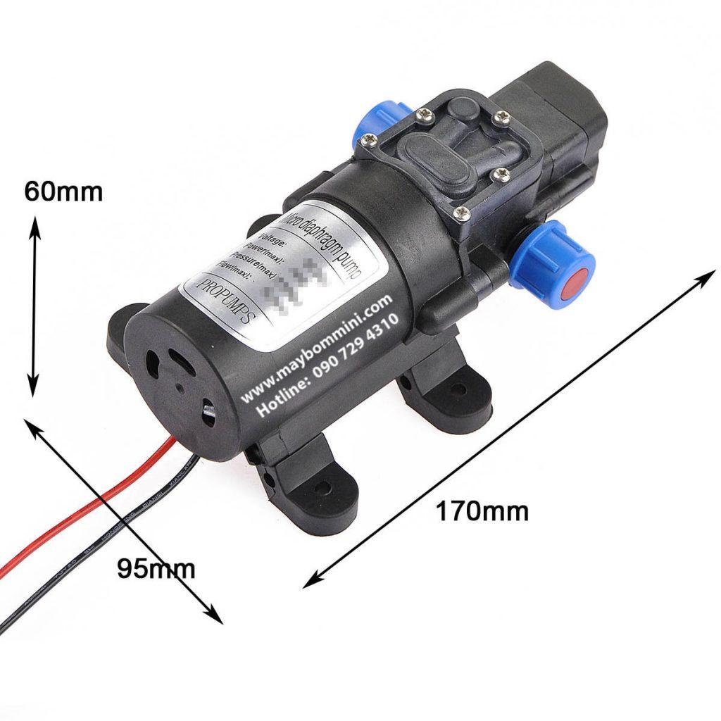 Thông số kỹ thuật của máy bơm nước mini