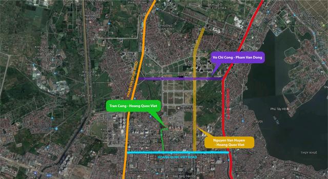 Đường Võ Chí Công Phạm Văn Đồng sắp hoàn thiện điểm nhấn mới của khu vực tây Hồ Tây 2