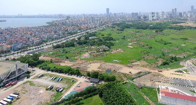 Đường Võ Chí Công Phạm Văn Đồng sắp hoàn thiện điểm nhấn mới của khu vực tây Hồ Tây