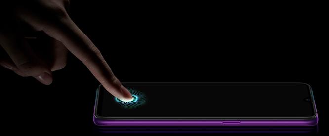 Máy quét vân tay nhúng trong màn hình